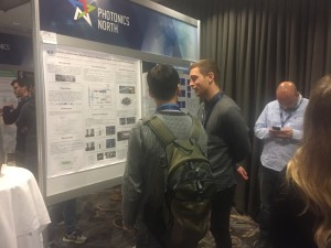 Showcasing WaterSpy Project poster at Photonics North Conference 2018.